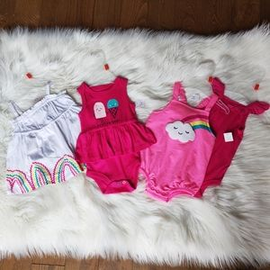 Bundle of 4 new Joe Fresh rompers & dresses